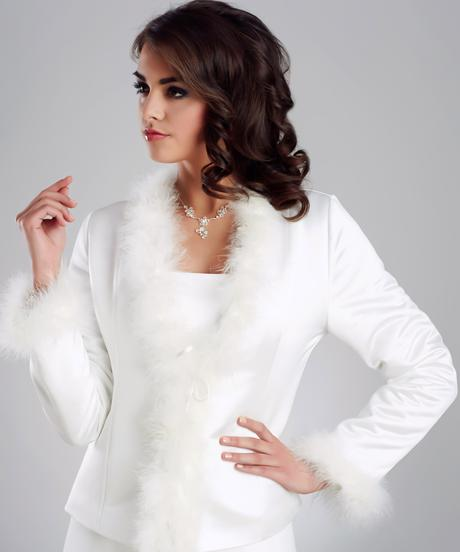 Svadobný kabátik na zimu,