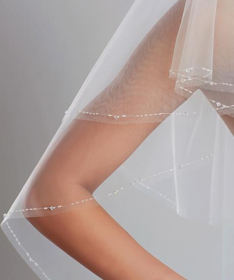 Swarovski svadobný závoj,