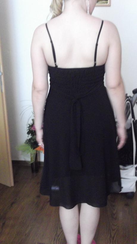 Elegatné čierne šaty 38-40, 38
