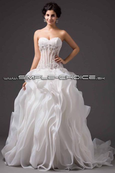 Sexi exkluzívne svadobné šaty, 38