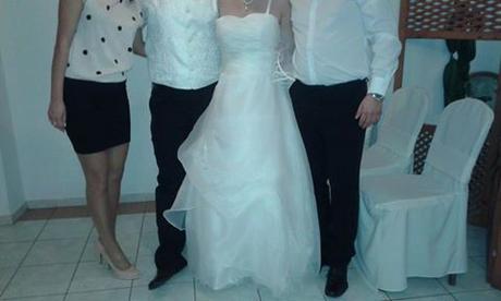Svadobné šaty vhodné aj pre tehulky 38-40-42, 40