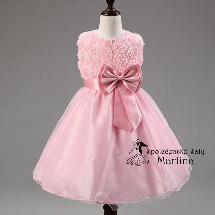 Spoločenské šaty pre družičku 2-10 rokov  1e070701582