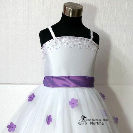 Spoločenské šaty pre družičku 1-6 rokov , 104
