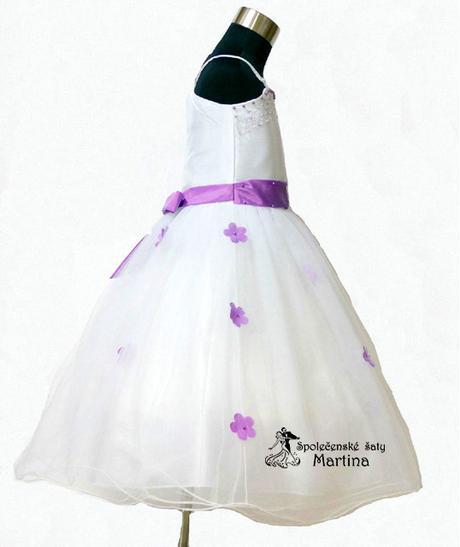 Spoločenské šaty pre družičku 1-6 rokov , 116