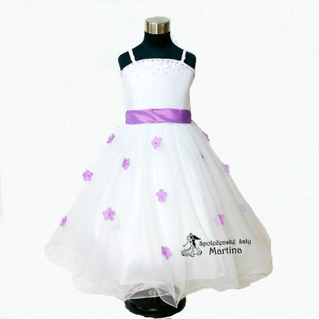 Spoločenské šaty pre družičku 1-6 rokov , 122