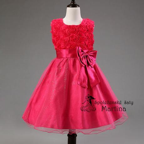 Spoločenské šaty pre družičku 2-10 rokov , 116