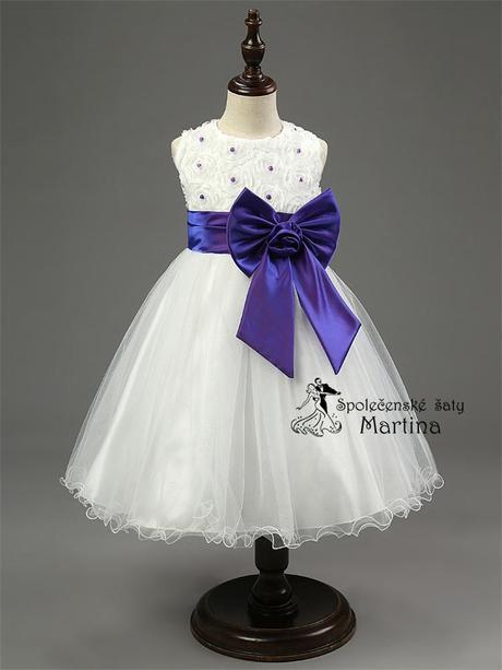 Spoločenské šaty pre družičku 2-10 rokov , 122