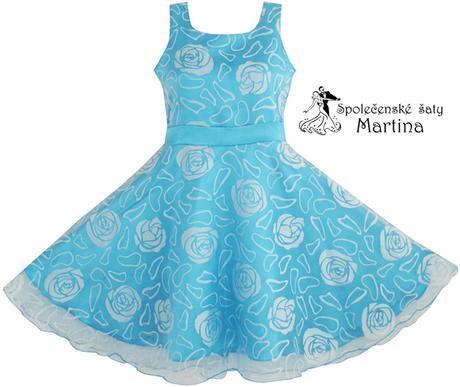 Spoločenské šaty pre družičku 3-12 rokov , 134