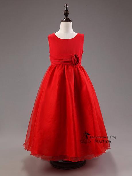 Spoločenské šaty pre družičku 3-9 rokov, 128