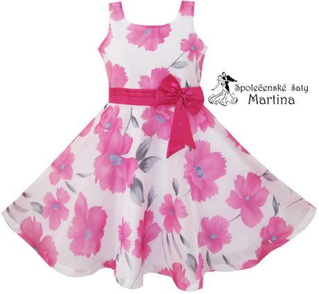 Spoločenské šaty pre družičku 4-12 rokov , 134