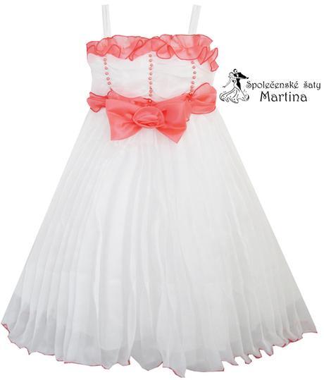 Spoločenské šaty pre družičku 4-8 rokov , 116
