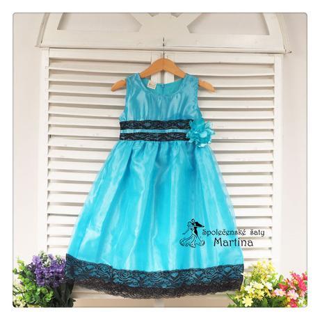 Spoločenské šaty pre družičku 4-9 rokov, 116