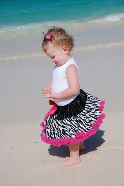 TUTU zebrovaná sukienka 1-7 let, 128