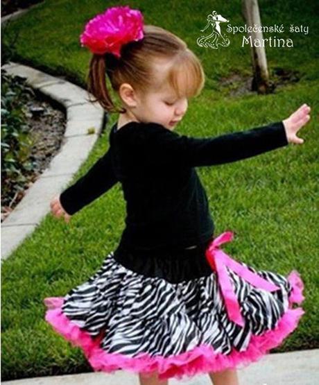 TUTU zebrovaná sukienka 1-7 let, 80