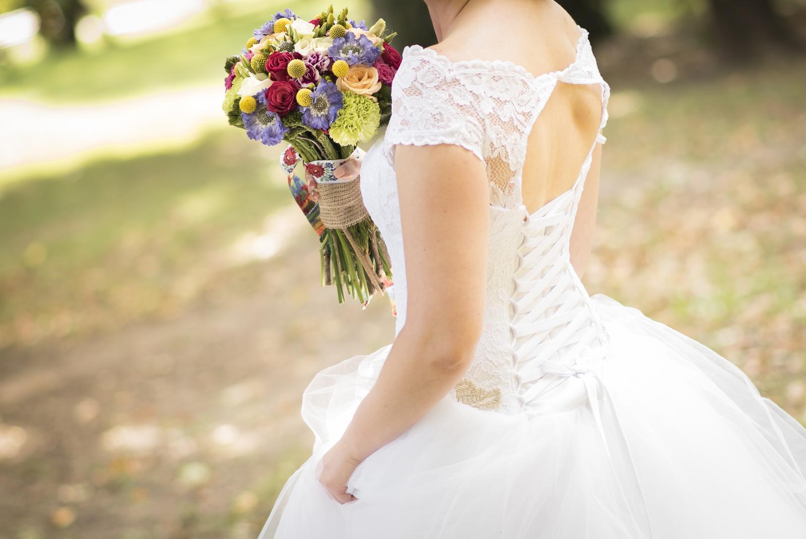 8e357adedabb Biele svadobne saty s cipkou - 38 - 40