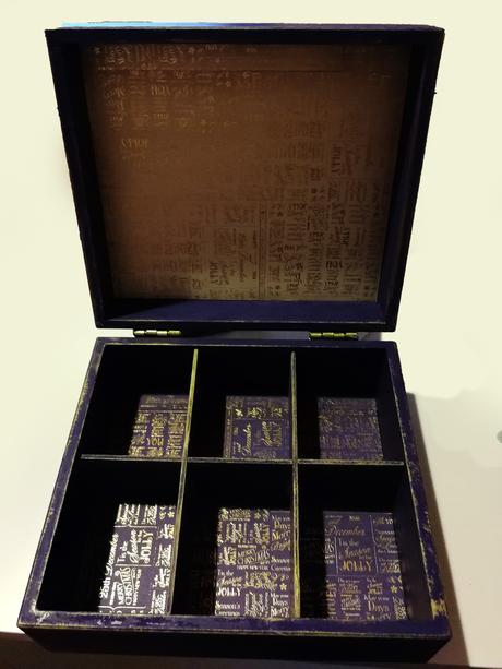 Romantická krabička na svatební čaj,