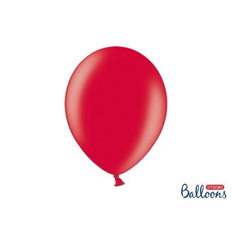 Balón metalický - červený,