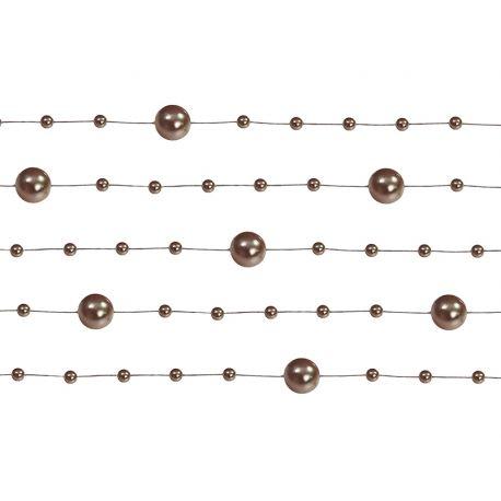 Girlanda perlová 1,3m hnedá,