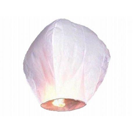 Lietajúci lampión šťastia - biela farba,