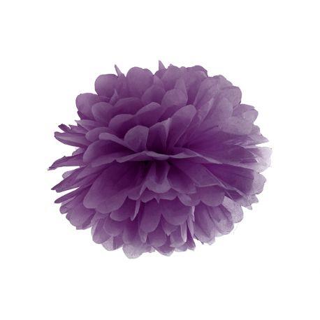 Pom pom fialový tmavý - 25cm alebo 35cm,