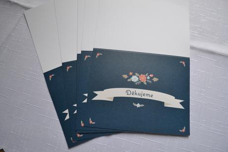 Děkovné kartičky,