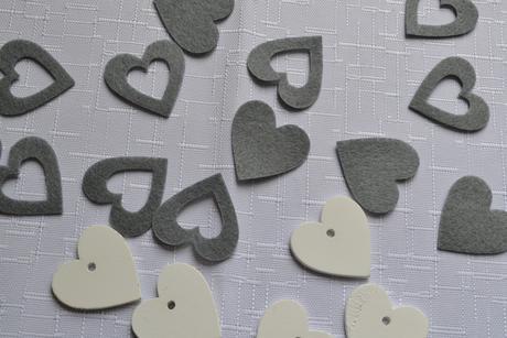Srdce šedé 65 ks,