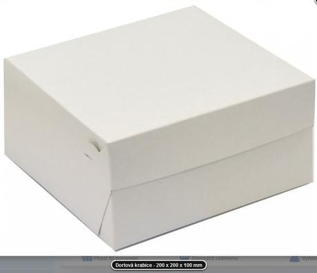 Krabice na výslužky- 61 ks,