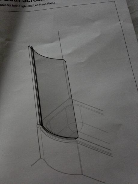 zástena na vaňu - sklo ,