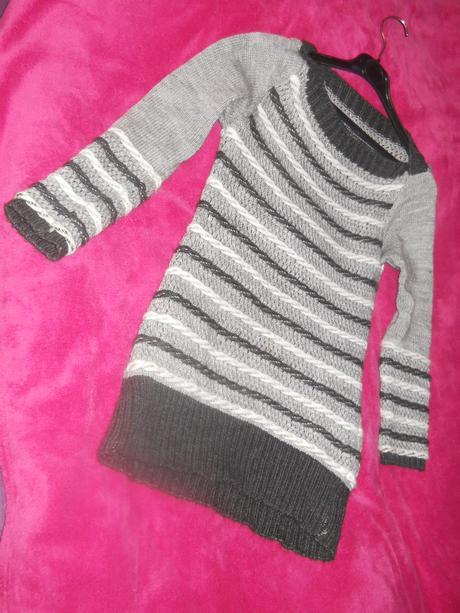 Pletené svetríkové šatočky, L