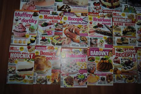 Balík časopisů pro inspiraci - dorty a pečení atd.,