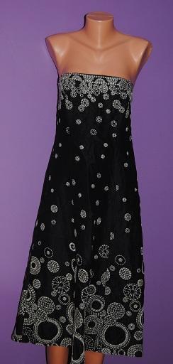 Černobéžové šaty vyšívané, Planet 40, 40