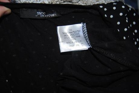 černobílé purntíkaté šaty Jane Norman M, 40