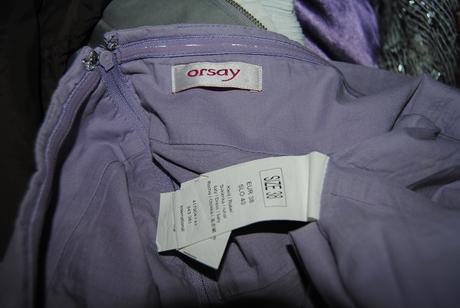 Fialovobílé šaty Orsay 38, 38