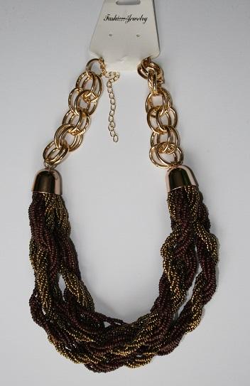 Hnědozlatý náhrdelník,