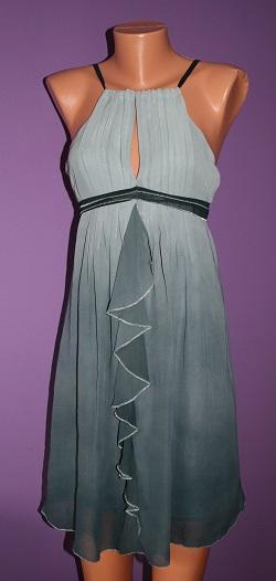 Šaty v odstínech šedé závojové vel.40, 40