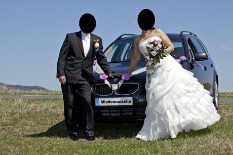 Svadobné šaty s doplnkami 42/44, 44
