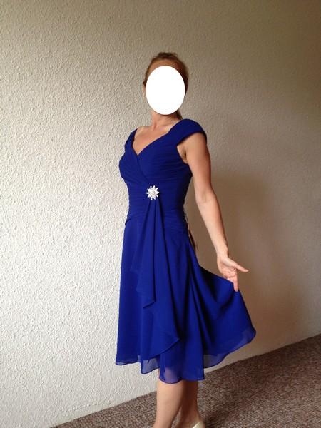 Společenské šaty, královská modrá, 40