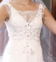 Čipkované svadobné šaty , 40
