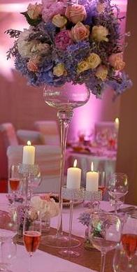 Váza pohár - sklo, výška 70 cm,