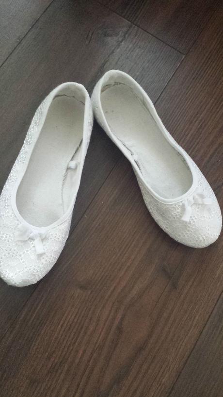 Biele látkové balerínky, 37