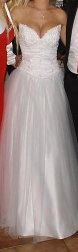 Biele svadobne saty , princeznovy strih , 36