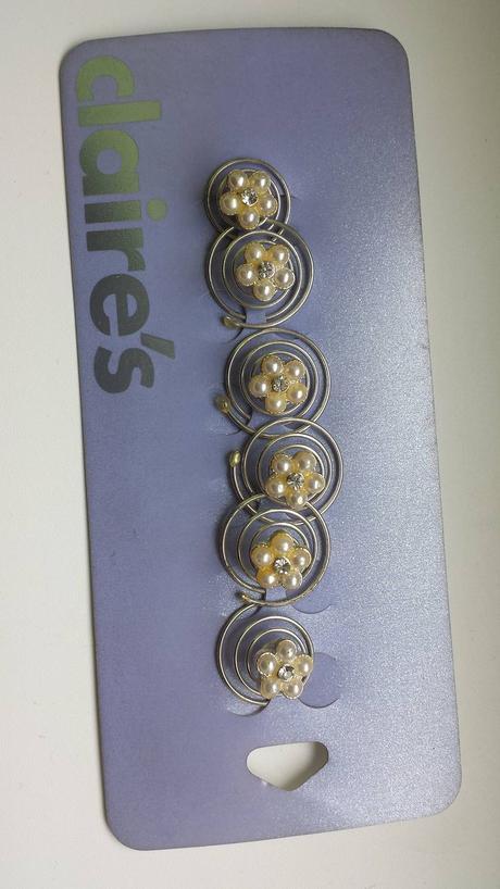 Spiralky do vlasov perlickove kvetinky 6ks,