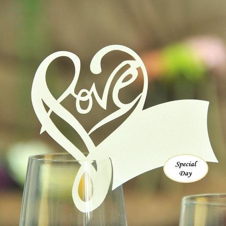 Menovka Love na pohár 100 ks zlatá,