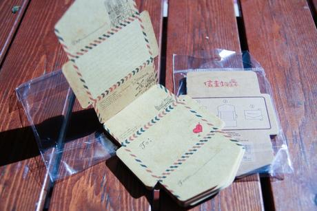 Mini obalky s motívom poštovej obalky 50ks,