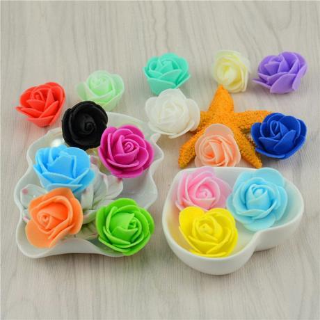 ružové ružičky  3,5 cm - 50 ks,