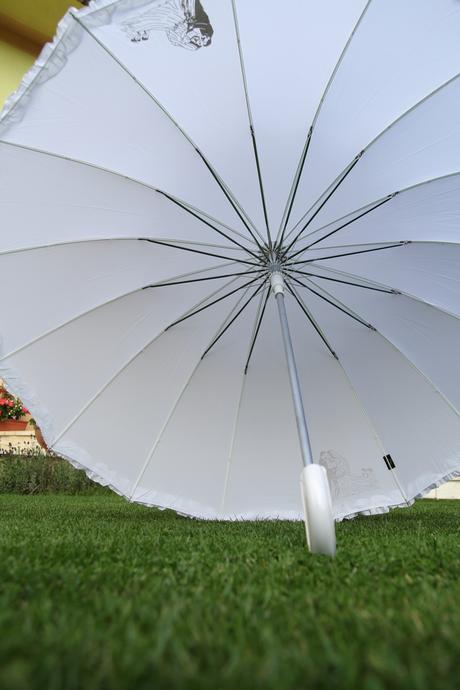 Svadobný dáždnik pre dvoch - čistonový,