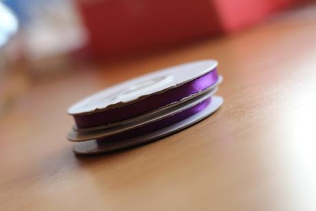 Stuha saténová fialová 6 mm x 25 m,