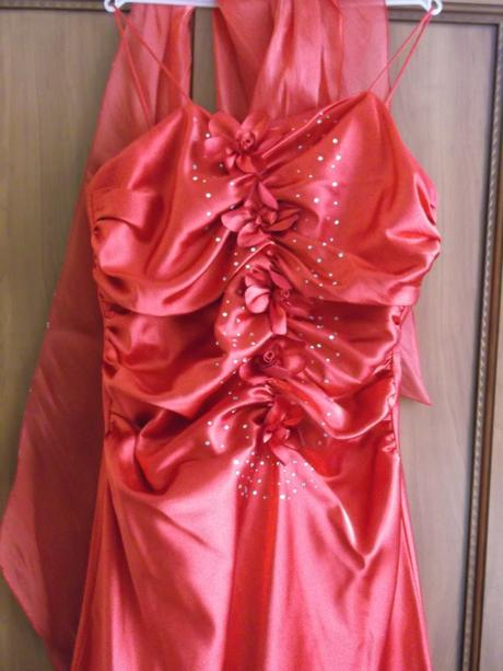 spoločenské šaty - červené, 42