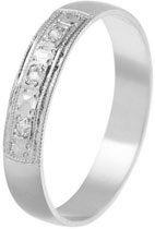 Briliantový zlatý snubní prsten 583 značky Benet,