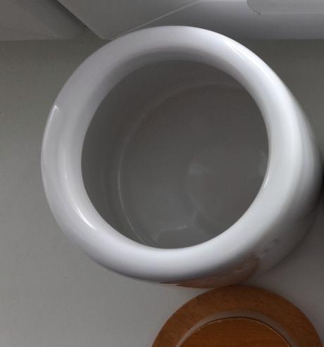 Keramická dóza na čaj v škandinávskom štýle,